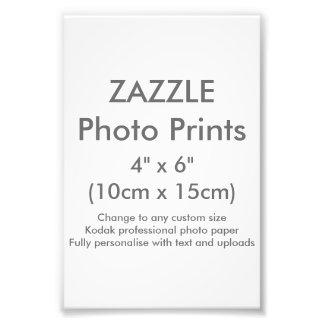 "Zazzle Custom 4"" x 6"" Photo Print Template"