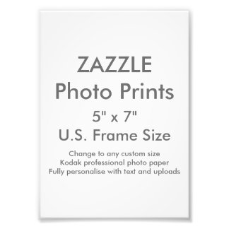 "Zazzle Custom 5"" x 7"" Photo Print (US Frame Size)"