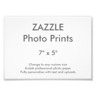 "Zazzle Custom 7"" x 5"" Photo Print 18 x 13 cm"