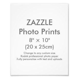 "Zazzle Custom 8"" × 10"" Photo Print Template"