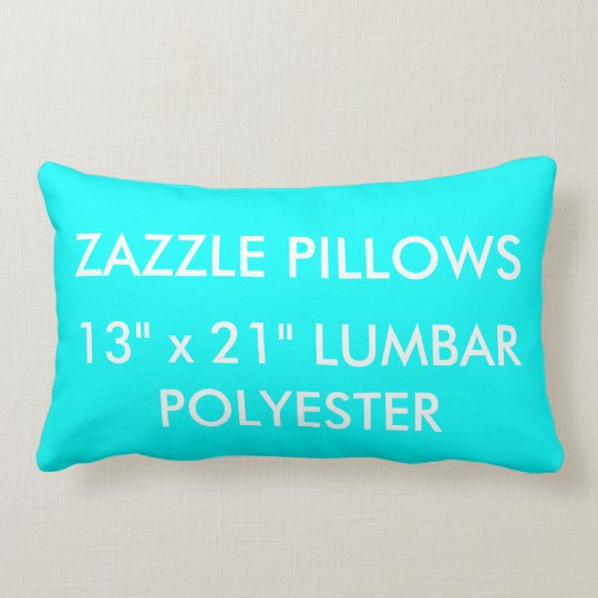 Zazzle Custom AQUA BLUE Polyester Lumbar Pillow