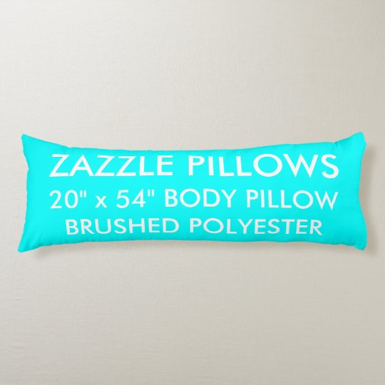 Zazzle Custom AQUA Brushed Polyester Body Pillow