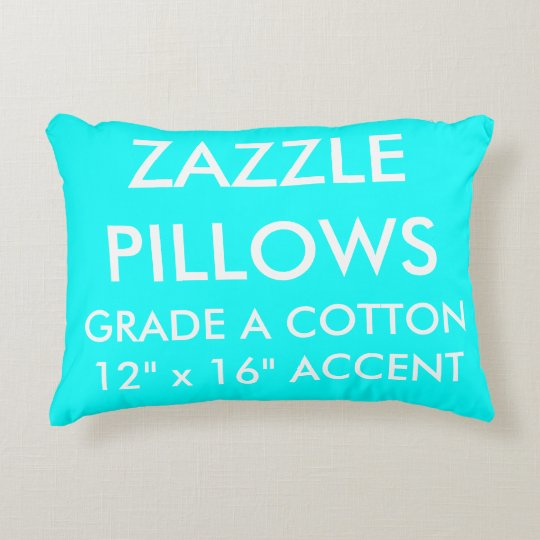 Zazzle Custom AQUA Cotton Accent Pillow Template