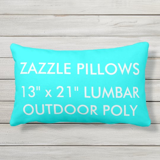 Zazzle Custom AQUA Outdoor Lumbar Pillow Template