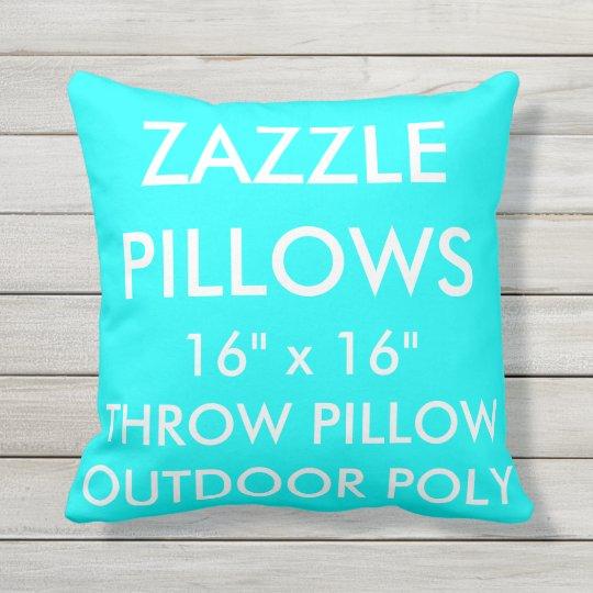 Zazzle Custom AQUA Outdoor Throw Pillow Template