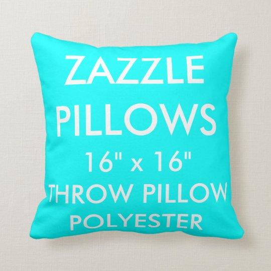 Zazzle Custom AQUA Polyester Throw Pillow Blank