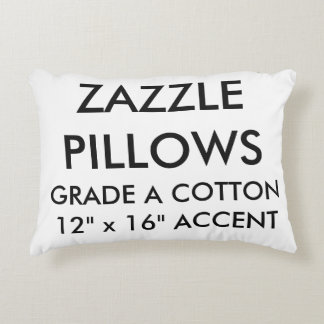 Zazzle Custom Cotton Accent Pillow Blank Template
