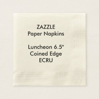 ZAZZLE Custom ECRU Coined Luncheon Paper Napkins