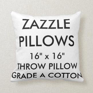Zazzle Custom Grade A Cotton Throw Pillow Template