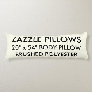 Zazzle Custom IVORY Brushed Polyester Body Pillow