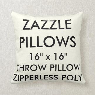 Zazzle Custom IVORY Zipperless Poly Throw Pillow