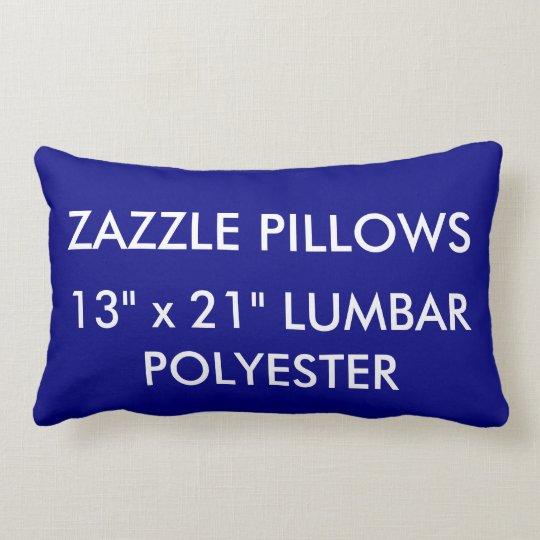 Zazzle Custom NAVY BLUE Polyester Lumbar Pillow