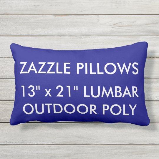 Zazzle Custom NAVY Outdoor Lumbar Pillow Template