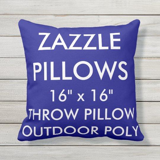 Zazzle Custom NAVY Outdoor Throw Pillow Template