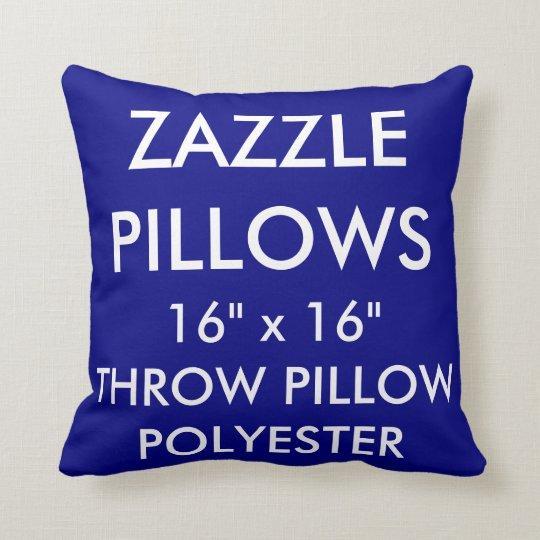 Zazzle Custom NAVY Polyester Throw Pillow Blank