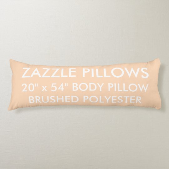 Zazzle Custom PEACH Brushed Polyester Body Pillow
