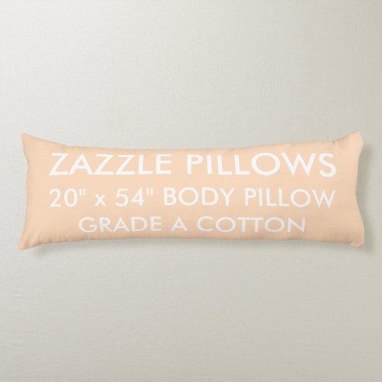 Zazzle Custom PEACH Grade A Cotton Body Pillow
