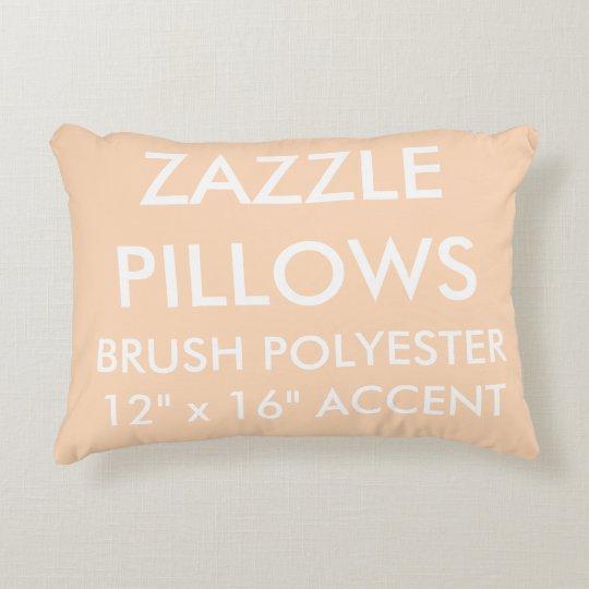 Zazzle Custom PEACH Polyester Accent Pillow