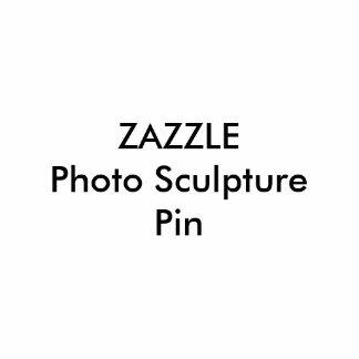 Zazzle Custom Photo Sculpture Pin Blank Template