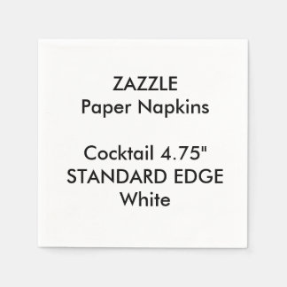 ZAZZLE Custom Plain Edge Cocktail Paper Napkins