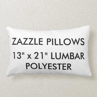 Zazzle Custom Polyester Lumbar Pillow Template