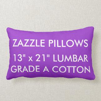 Zazzle Custom PURPLE Cotton Lumbar Pillow Template