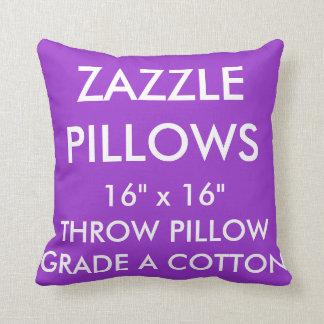 Zazzle Custom PURPLE Grade A Cotton Throw Pillow