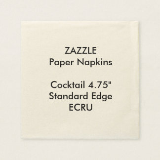 ZAZZLE Custom Small ECRU Cocktail Paper Napkins