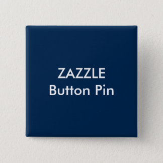 Zazzle Custom Square Button Pin Blank DARK BLUE