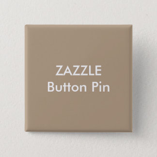 Zazzle Custom Square Button Pin Blank LIGHT BROWN