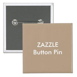 Zazzle Custom Square Button Pin Blank LIGHT BROWN