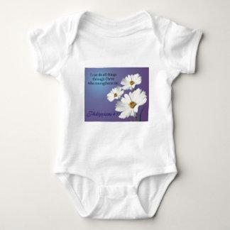 zazzle flower 2 design baby bodysuit