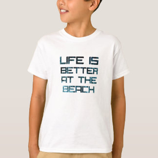 Zazzle Life Is Better At The Beach Kids Unisex Tee