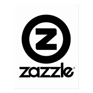 zazzle logo stacked postcard