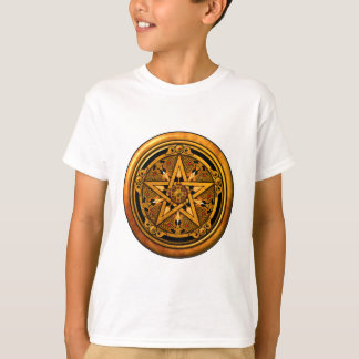 Zazzle - Masculine Gold Pentacle-noback T-Shirt