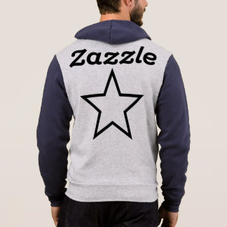 Zazzle Men's Bella+Canvas Full-Zip Hoodie