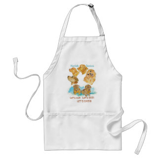 "Zazzle NORFOLKS  ""LET's EAT"" apron"