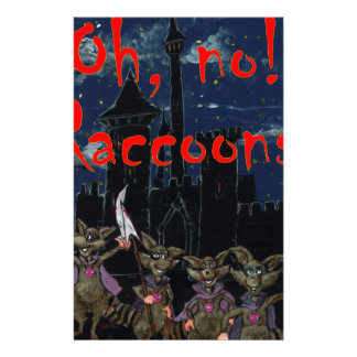 Zazzle ohno raccoonsOh, no! Raccoons! Stationery Design