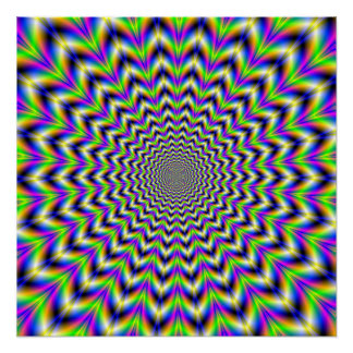 Zazzle Perfect Poster   Psychedelic Star