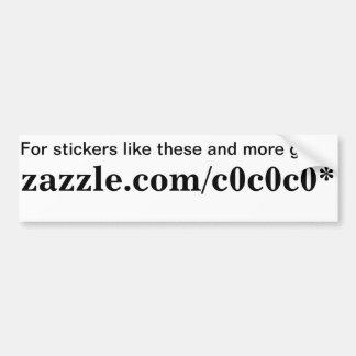 Zazzle promotion bumper sticker