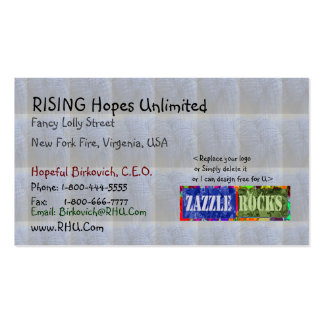 ZAZZLE ROCKS - Babysoft Quilts n Fabrics Pack Of Standard Business Cards