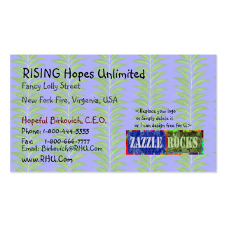 ZAZZLE ROCKS - Green Field Projects by Naveen Business Card Template