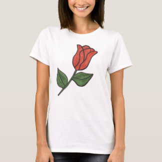 Zazzle Tank with Rose Sketch
