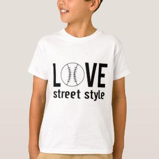 Zazzle Unisex Love Baseball Street Style Kids Tee