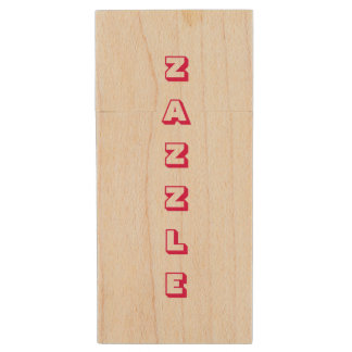 Zazzle wooden USB Drive Wood USB 2.0 Flash Drive