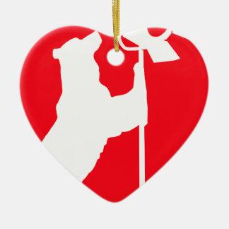 zazzlebear.png ceramic heart ornament