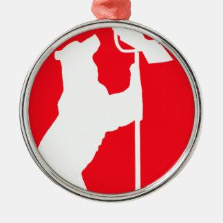 zazzlebear.png Silver-Colored round ornament