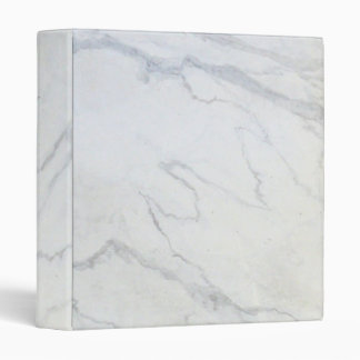 ZAZZLELIST Marble Marvellous White Vinyl Binders