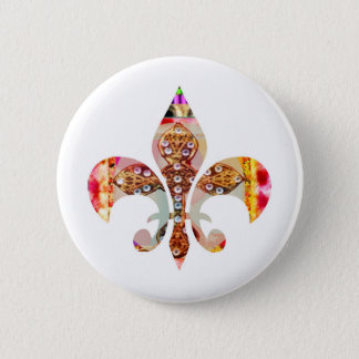 ZazzleRocks: Fleur-de-Lis Series 2 Inch Round Button