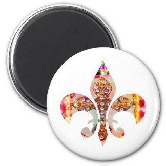ZazzleRocks: Fleur-de-Lis Series 2 Inch Round Magnet